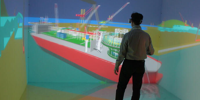 TechViz VR software in the shipbuilding industry