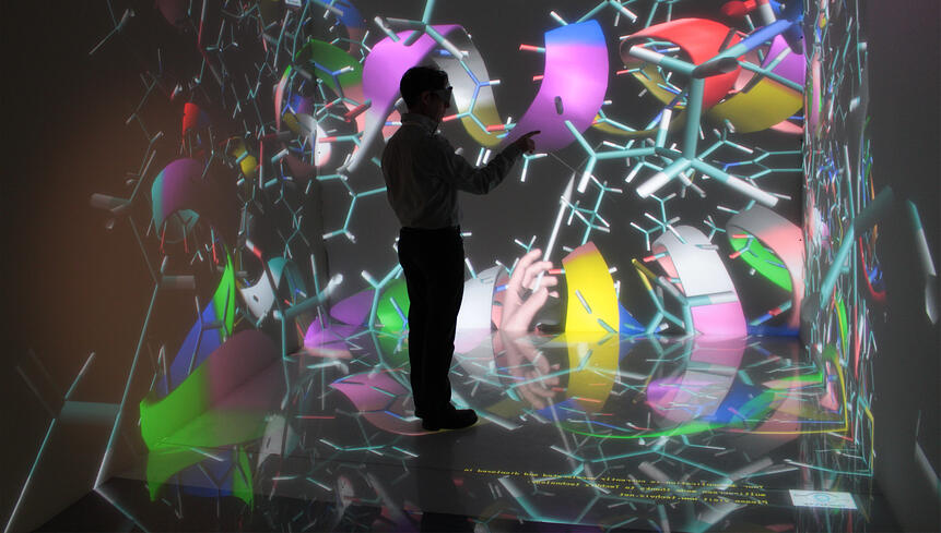 沉浸在虚拟现实环境中浏览3D模型