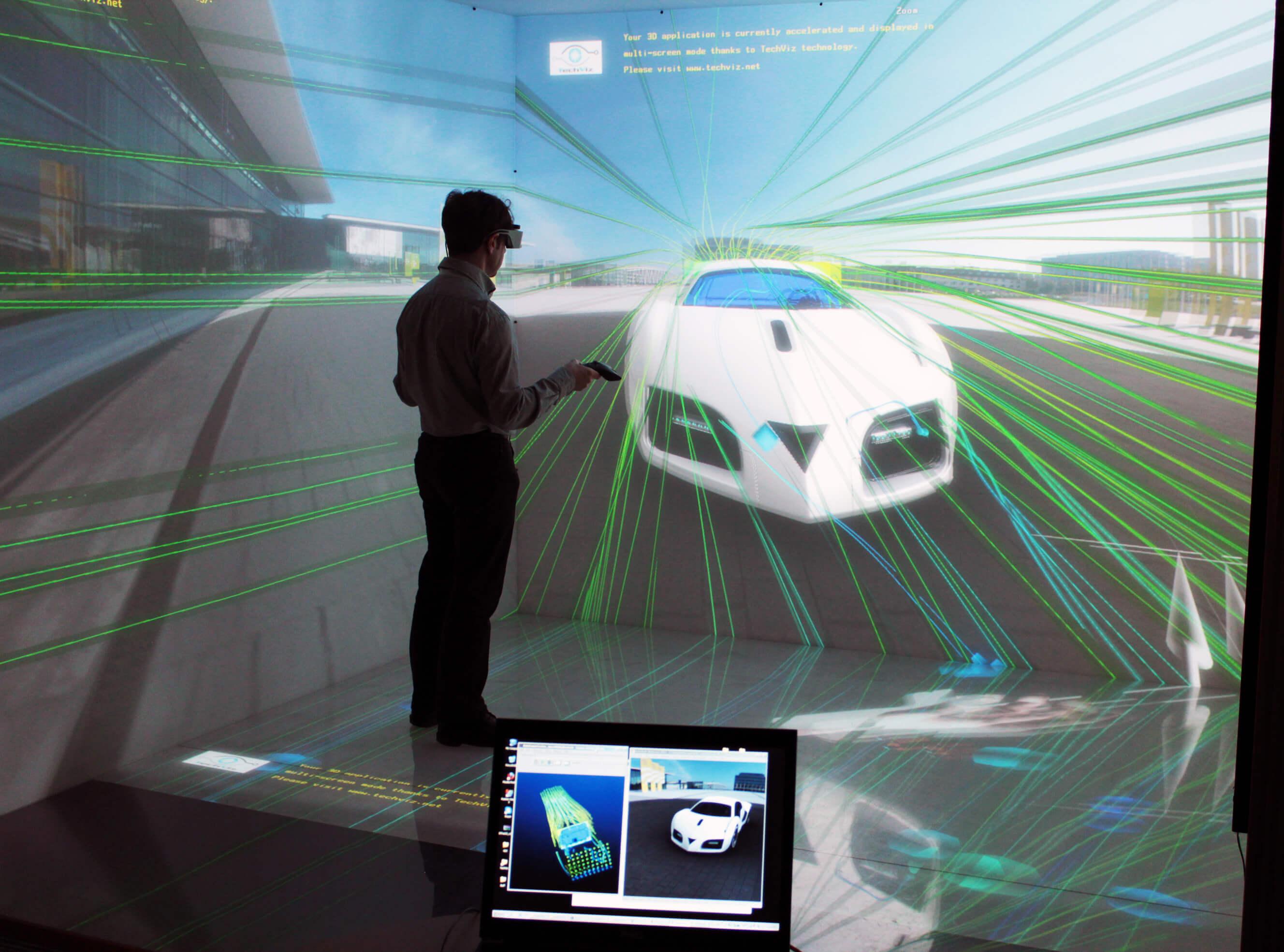 通过虚拟现实检查汽车空气动力学