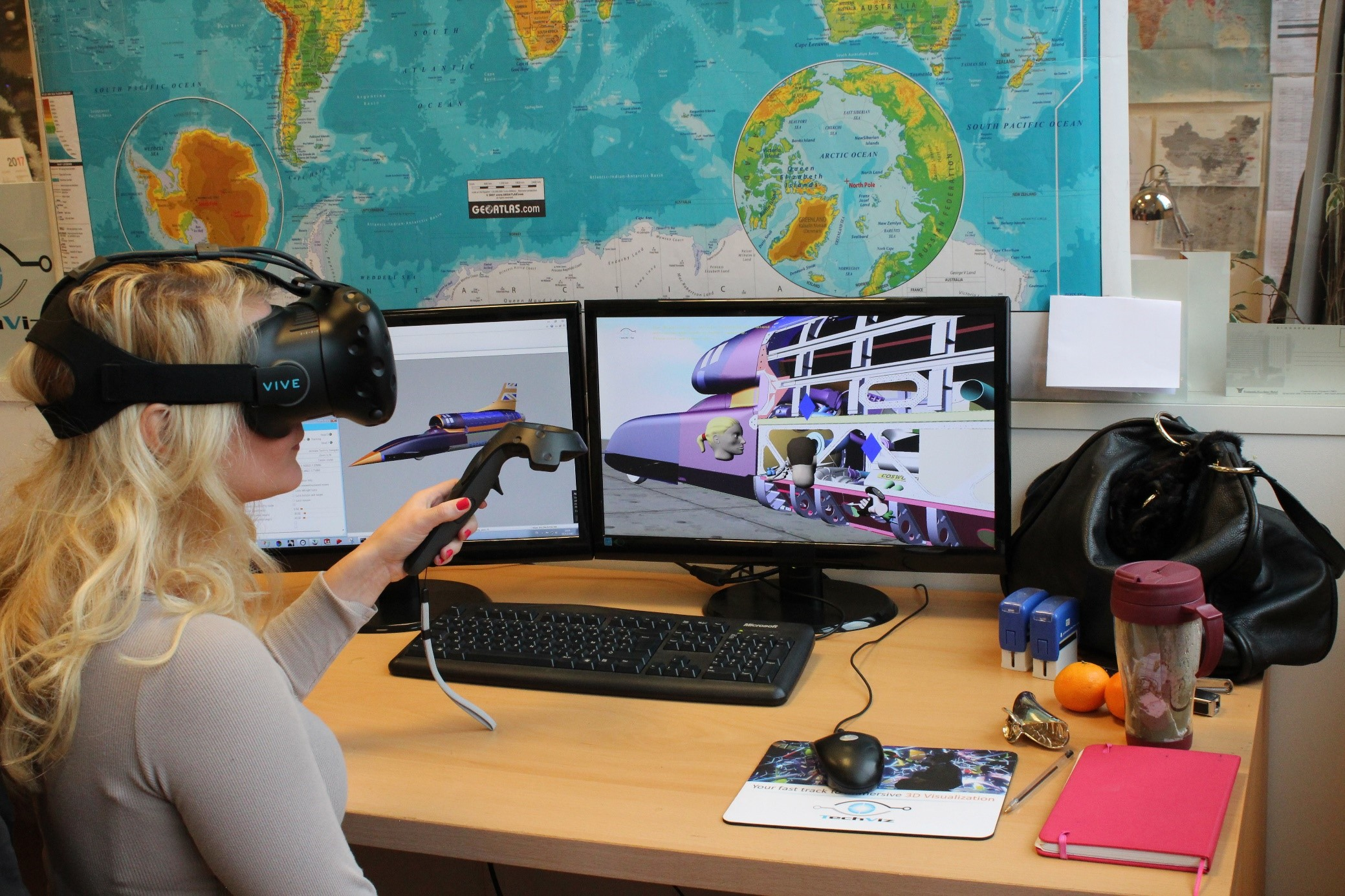 Collaborate in VR with Techviz software